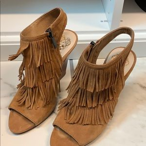 Vince Camuto fringe booties size 6 M